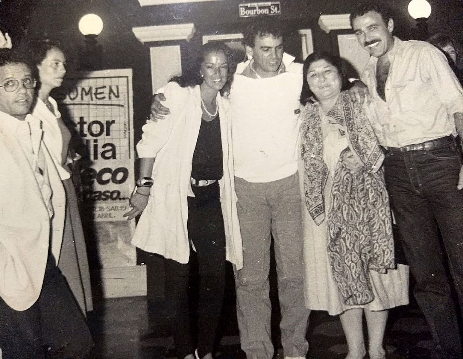 Mario Abraham junto a Mercedes Sosa